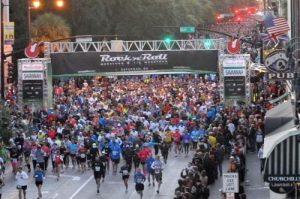 Savannah Bed and Breakfast rock and roll marathon start line